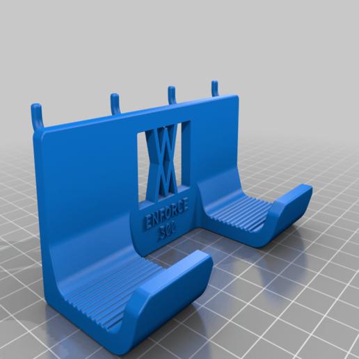 enforce_300_pins.png Download free STL file Engineers Hammer Holder 300g 028 I for screws or peg board • Model to 3D print, Wiesemann1893