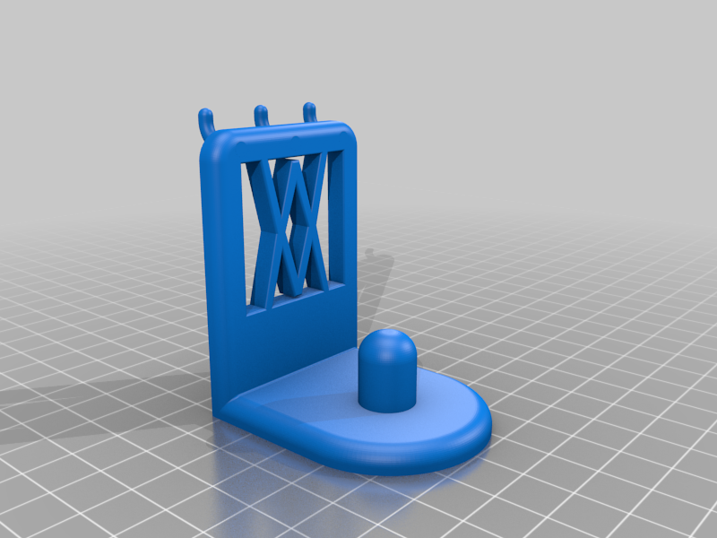 Pins.png Download free STL file XXL Wall Holder for 1/2 inch sockets larger than 30mm 045 I for screws or peg board • 3D printable model, Wiesemann1893
