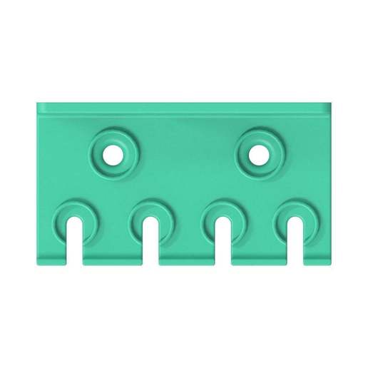 030_03.jpg Download free STL file TX Screwdriver Set 6pcs Holder for Wall 058 I for screws or peg board • 3D print template, Wiesemann1893