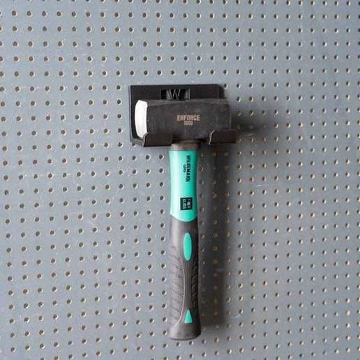 038.jpg Download free STL file Club Hammer 1000 Grams holder 038 I ENFORCE I for screws or peg board • 3D printer template, Wiesemann1893