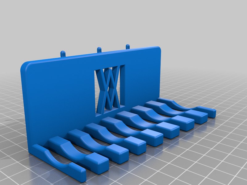 Part_2.png Download free STL file XXL Combination Spanner Set 26pcs metric 6-32 mm Wall Holder 016 I for screws or peg board • 3D printable model, Wiesemann1893