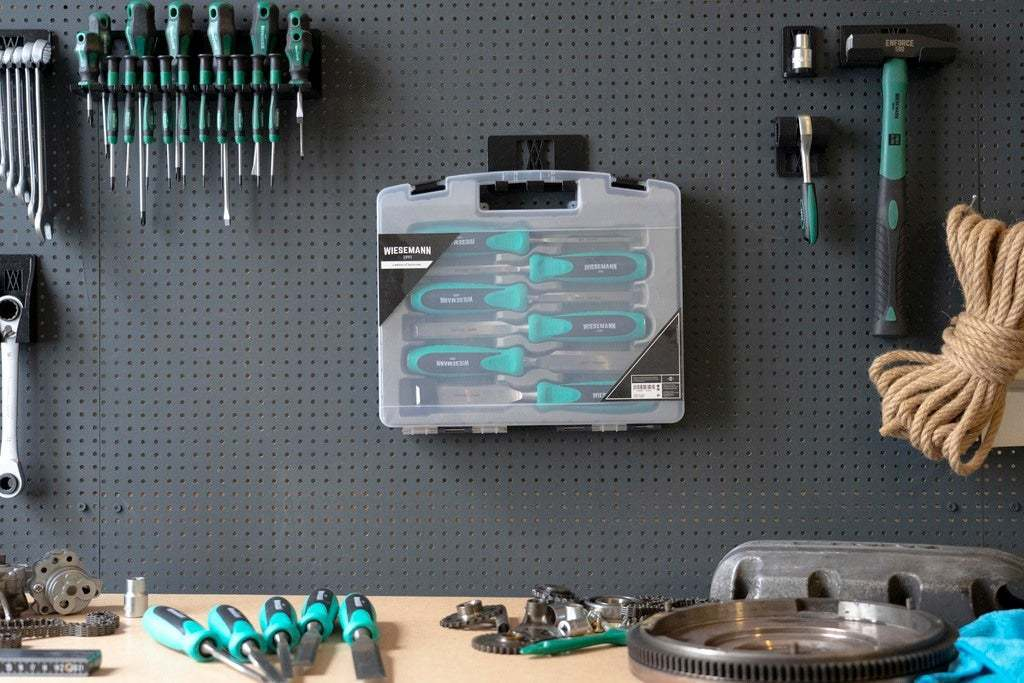20181022-_DSC8077.jpg Download free STL file Wall Holder Chisel Set Tool Box 068 I for screws or peg board • 3D printable model, Wiesemann1893
