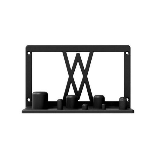 002_01_b.jpg Download free STL file Wall Mount for Power Adapter Set 8pcs 002 I for screws or peg board • 3D printer object, Wiesemann1893