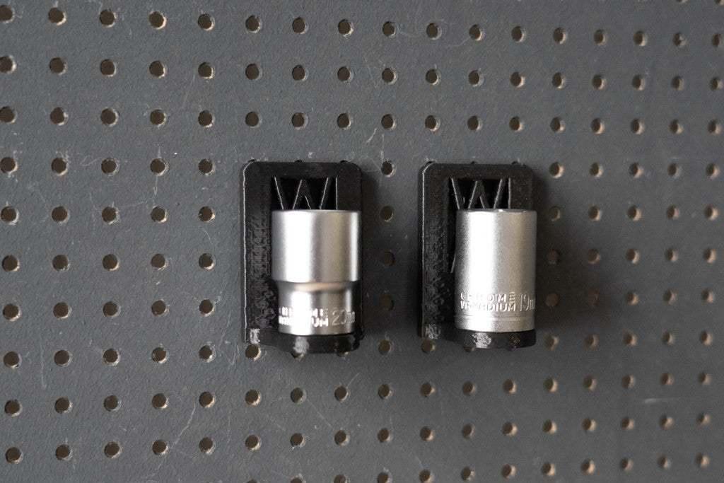 044_Foto_16.jpg Download free STL file Universal Wall Holder for 1/2 inch sockets 044 I for screws or peg board • 3D printer design, Wiesemann1893