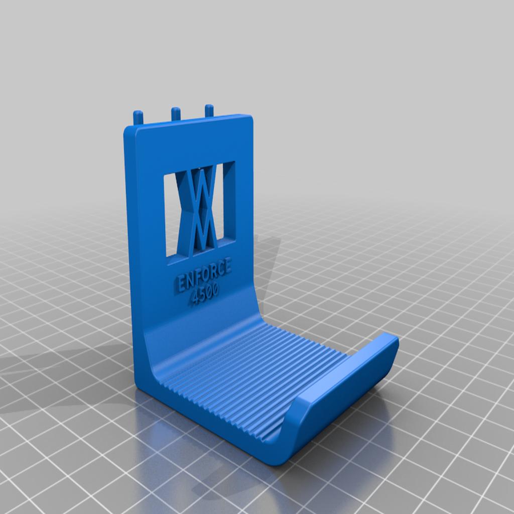 enforce_4500_pins_v2.png Download free STL file XXL Sledgehammer Holder (4.5kg/10lb) 033 I ENFORCE I for screws or peg board • 3D print design, Wiesemann1893