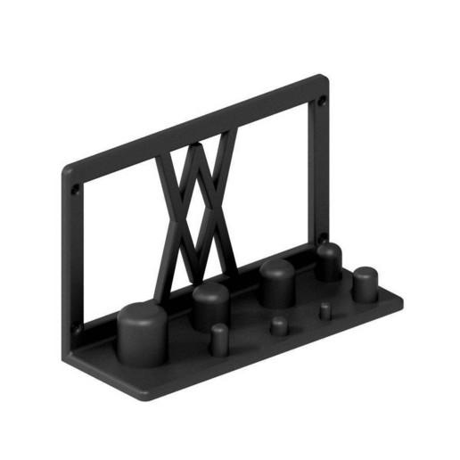 002_02_b.jpg Download free STL file Wall Mount for Power Adapter Set 8pcs 002 I for screws or peg board • 3D printer object, Wiesemann1893