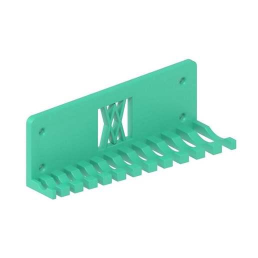 056_02.jpg Download free STL file Combination Spanner Set 12pcs metric 6-22mm Wall Holder 056 I for screws or peg board • 3D print design, Wiesemann1893