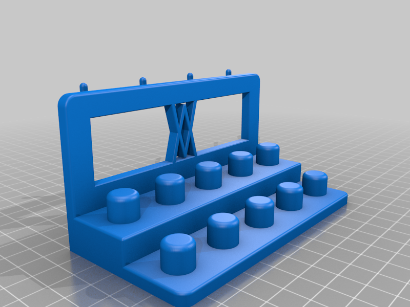 Right_Pins.png Download free STL file Tool Holder for TX Socket Set 19pcs 010 I for screws or peg board • 3D printable template, Wiesemann1893