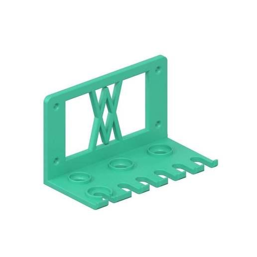 059_l_02.jpg Download free STL file Tool Holder for 18pcs Screwdriver Set 059 I for screws or peg board • 3D printing template, Wiesemann1893