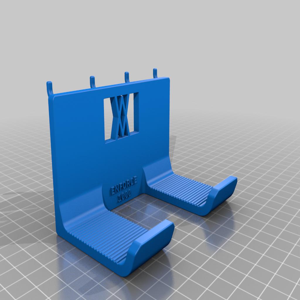 enforce_1000_pins.png Download free STL file Club Hammer 1000 Grams holder 038 I ENFORCE I for screws or peg board • 3D printer template, Wiesemann1893
