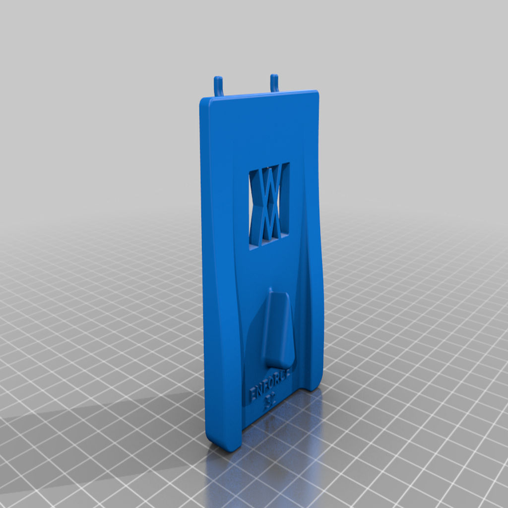 enforce_32_pins.png Download free STL file Tool Holder for Wrecking Bar Small (325mm) 036 I ENFORCE I for screws or peg board • 3D printing template, Wiesemann1893
