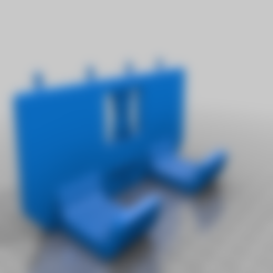 enforce_20_pins.stl Download free STL file Tool Holder for Claw Hammer 20oz / for screws or peg board • 3D printer model, Wiesemann1893