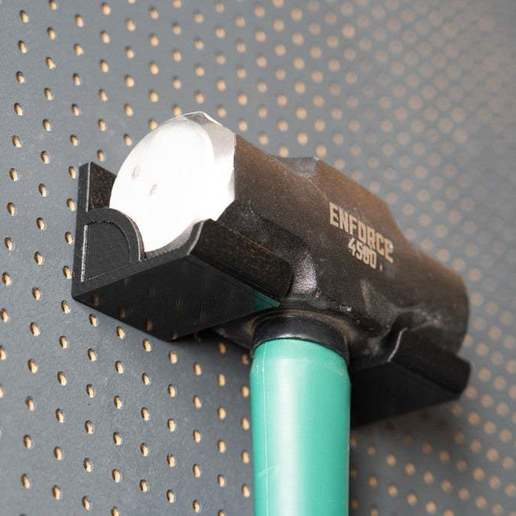 033.jpg Download free STL file XXL Sledgehammer Holder (4.5kg/10lb) 033 I ENFORCE I for screws or peg board • 3D print design, Wiesemann1893