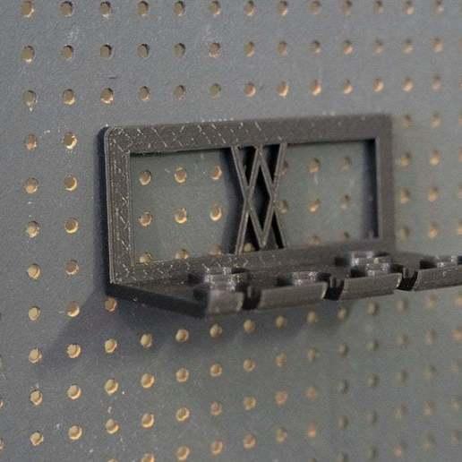 058.jpg Download free STL file TX Screwdriver Set 6pcs Holder for Wall 058 I for screws or peg board • 3D print template, Wiesemann1893