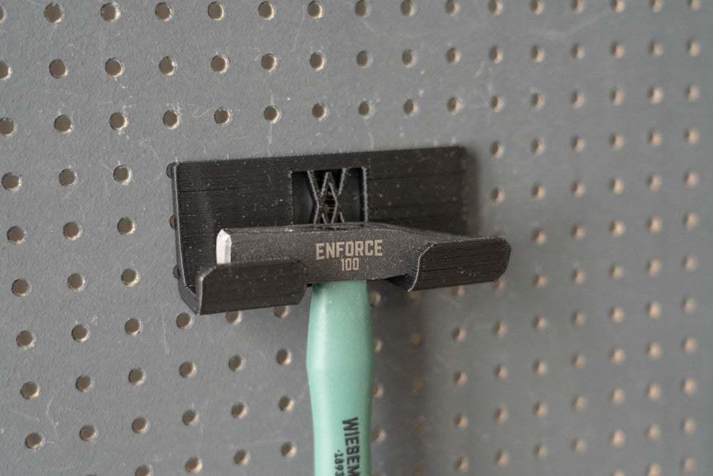 027_Foto_5.jpg Download free STL file Engineers Hammer Holder 100g 027 I for screws or peg board • 3D printer model, Wiesemann1893