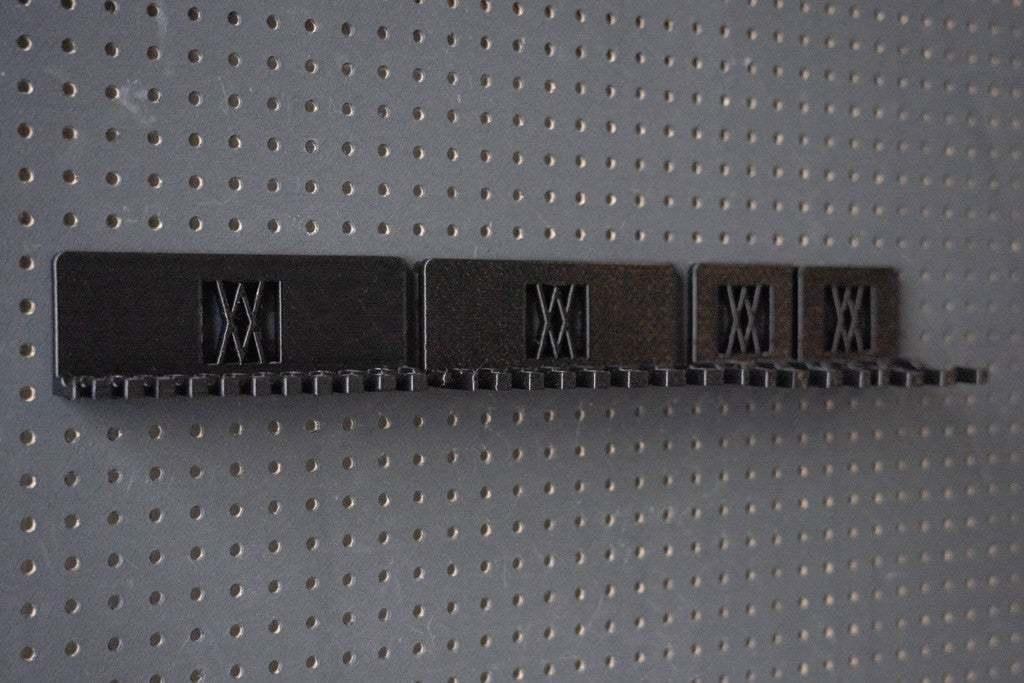 016_Foto_10.jpg Download free STL file XXL Combination Spanner Set 26pcs metric 6-32 mm Wall Holder 016 I for screws or peg board • 3D printable model, Wiesemann1893
