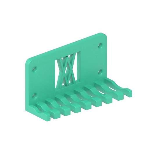 011_02.jpg Download free STL file Combination Spanner Set 8pcs metric 8-19mm Wall Holder 011 I for screws or peg board • 3D printer model, Wiesemann1893