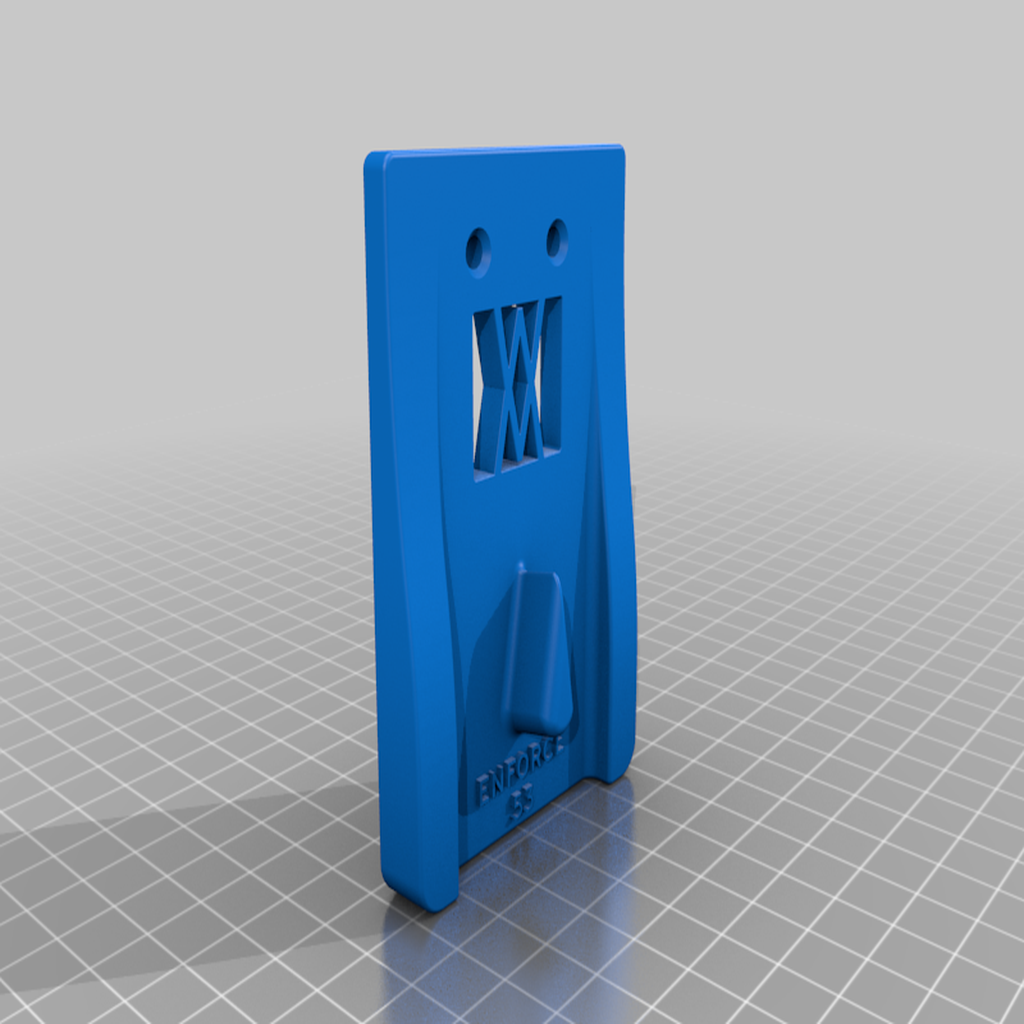 enforce_53_screws.png Download free STL file Tool Holder for Wrecking Bar Large (530mm) 037 I ENFORCE I for screws or peg board • 3D printing object, Wiesemann1893