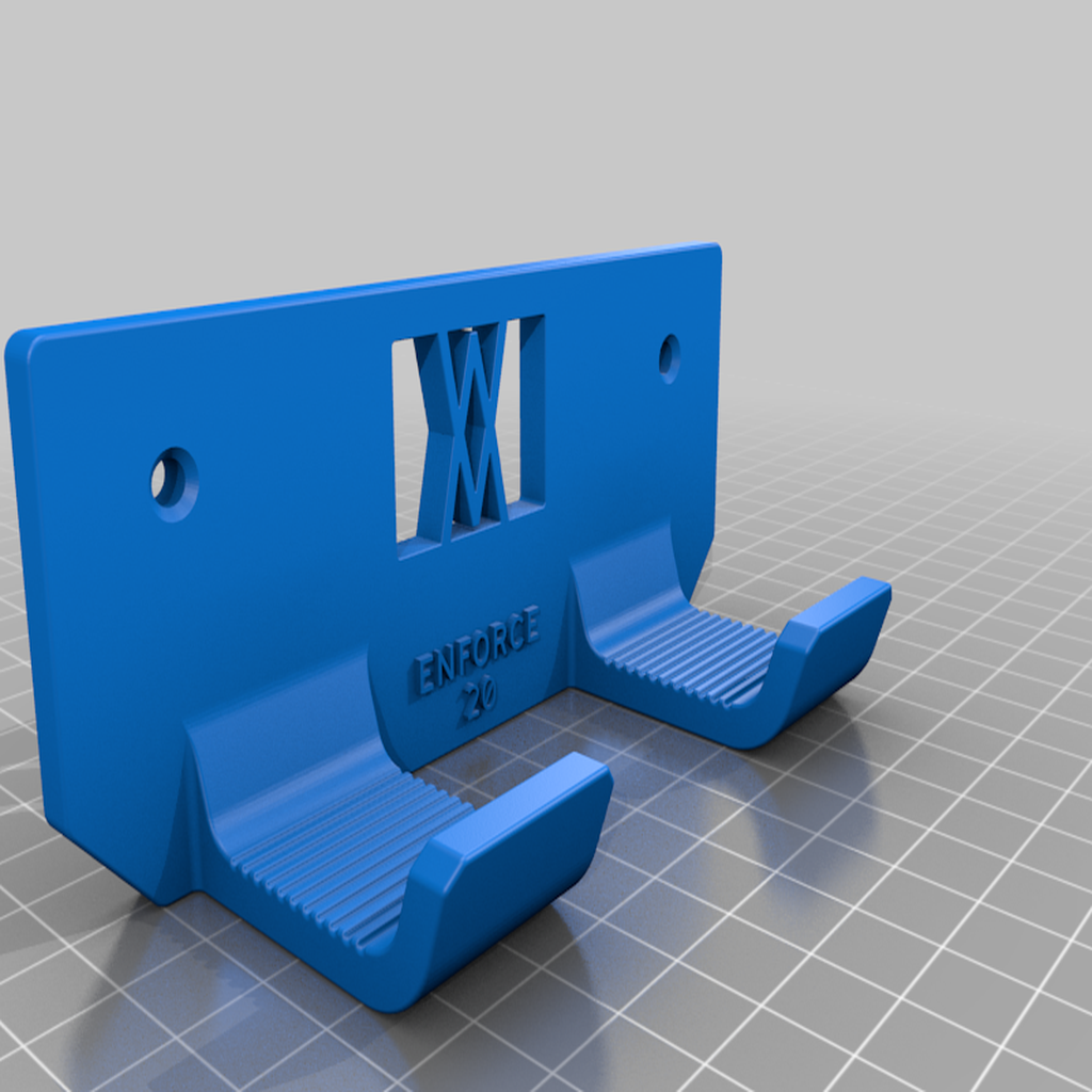 enforce_20_screws.png Download free STL file Tool Holder for Claw Hammer 20oz / for screws or peg board • 3D printer model, Wiesemann1893