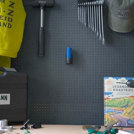 044_Foto_3.jpg Download free STL file Universal Wall Holder for 1/2 inch sockets 044 I for screws or peg board • 3D printer design, Wiesemann1893
