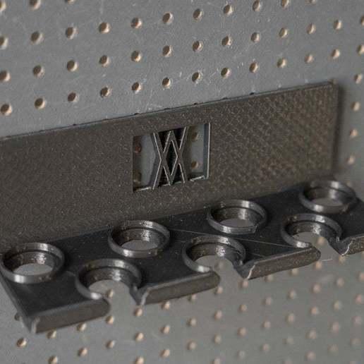 013_Foto_4.jpg Download free STL file Socket Wrench Screwdriver Set 7pcs Tool Holder 013 I for screws or peg board • Design to 3D print, Wiesemann1893