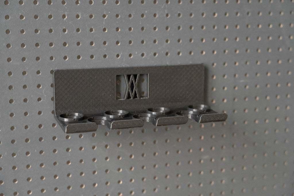 013_Foto_2.jpg Download free STL file Socket Wrench Screwdriver Set 7pcs Tool Holder 013 I for screws or peg board • Design to 3D print, Wiesemann1893