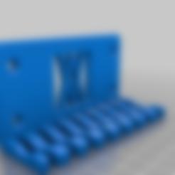 011_Pins.stl Download free STL file Combination Spanner Set 8pcs metric 8-19mm Wall Holder 011 I for screws or peg board • 3D printer model, Wiesemann1893