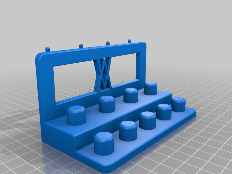 Left_Pins.png Download free STL file Tool Holder for TX Socket Set 19pcs 010 I for screws or peg board • 3D printable template, Wiesemann1893