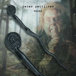 Download 3D printer designs Peter Pettigrew Wand, turugsan