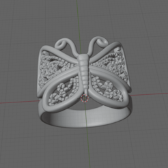 Captura de pantalla (12).png Download STL file BUTTERFLY RING • 3D printer model, lalo5195442