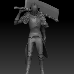 Front.PNG Télécharger fichier STL Personnage de Dark Souls - Grande machette de Yhorms • Design à imprimer en 3D, UpsideDownGorilla