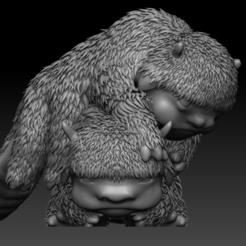 01.PNG Télécharger fichier OBJ Avatar Le dernier bébé bison maître de l'air • Modèle imprimable en 3D, UpsideDownGorilla