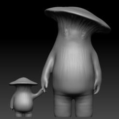 Front.PNG Télécharger fichier STL Les âmes sombres - Les gens des champignons • Plan imprimable en 3D, UpsideDownGorilla