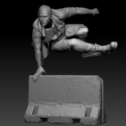 1.PNG Download STL file Vaulting Lady • 3D printable design, UpsideDownGorilla
