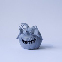 tekvicka01.jpg Download OBJ file Halloween pumpkin • 3D printer template, shapeshifter