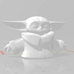 Grogu v2  for egg.jpg Download OBJ file Model Inspired by Grogu The Child and his Floating Egg 3D print model • 3D print template, EwokSquad183