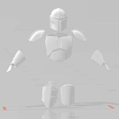 Mando Beskar front.jpg Download STL file The Mandalorian Armor Files Bundle • 3D printing object, EwokSquad183