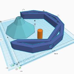 Cresent Hanging Planter TinkerCad.png Télécharger fichier STL Cintre de plantes polynésiennes basses • Plan pour imprimante 3D, wildcard0063