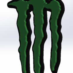 Download STL files monster logo keychain, conejo1d2015