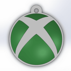 Download 3D printing files xbox logo keychain, conejo1d2015