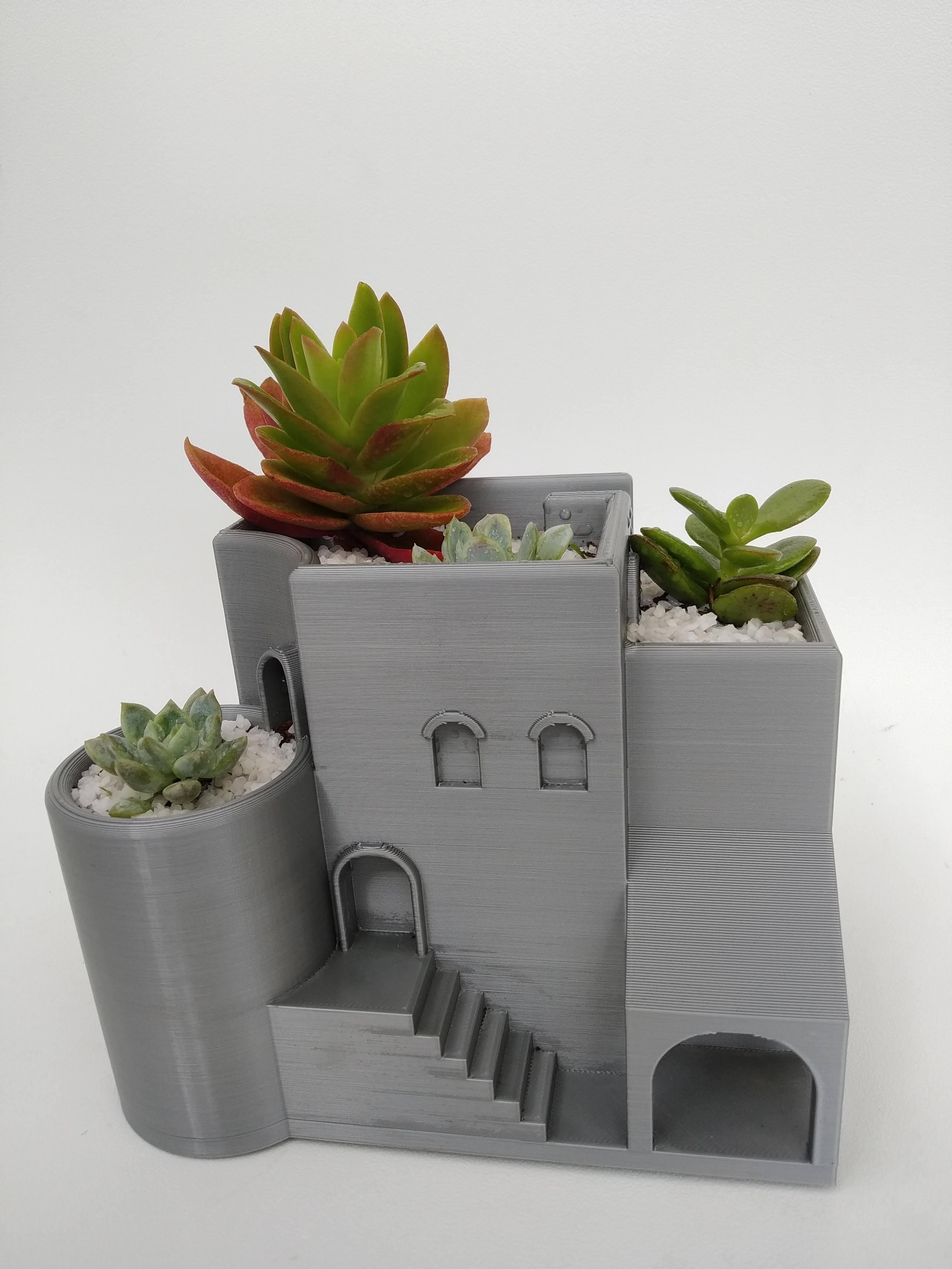 IMG_20200807_152108.jpg Télécharger fichier STL gratuit Jardinière d'intérieur / pot arabe • Plan pour imprimante 3D, 360lab3D