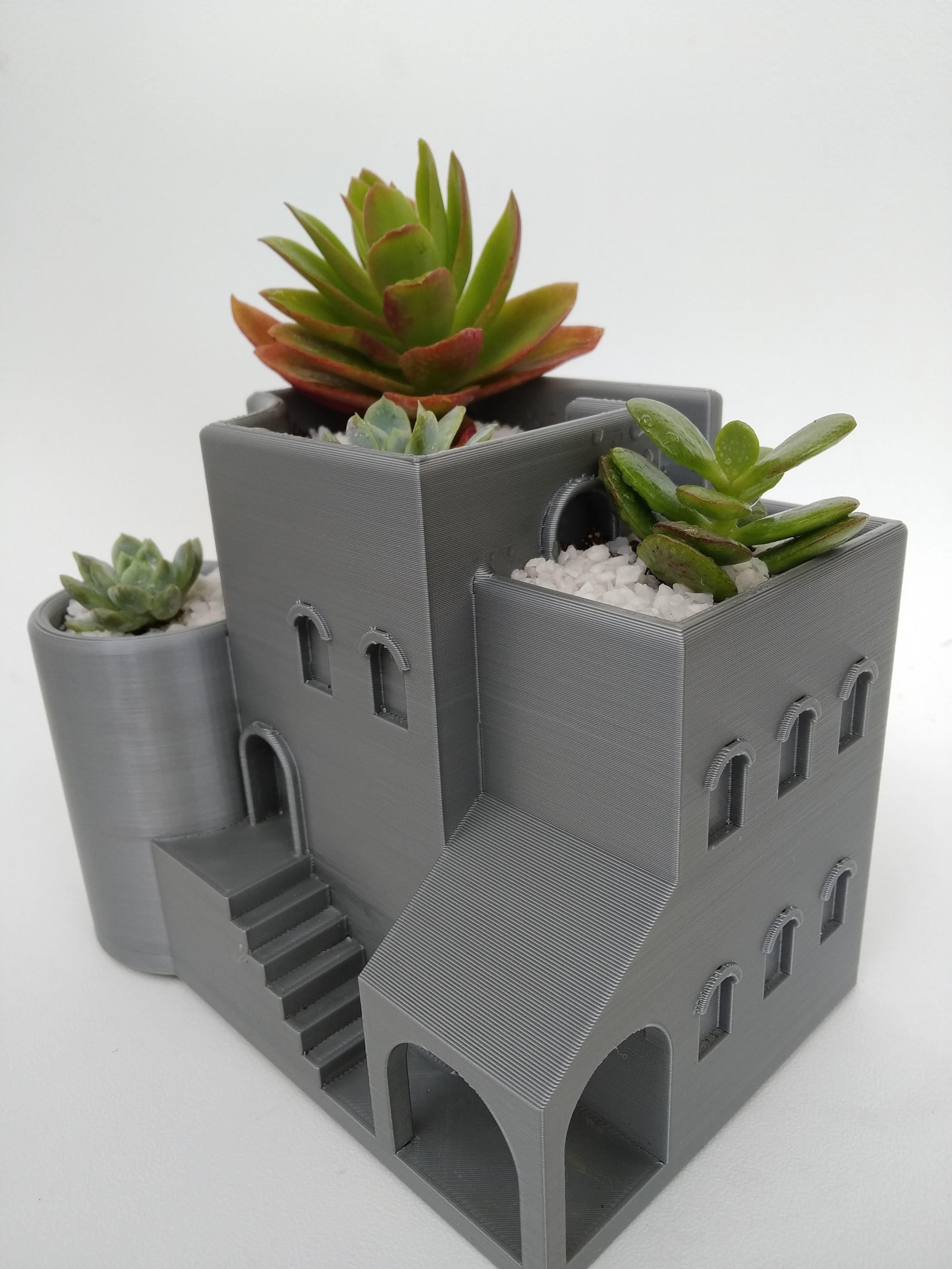 IMG_20200807_152043.jpg Télécharger fichier STL gratuit Jardinière d'intérieur / pot arabe • Plan pour imprimante 3D, 360lab3D