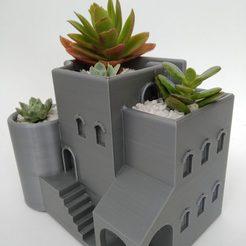 IMG_20200807_152043.jpg Download free STL file Arabian house planter / pot • 3D printer design, 360lab3D
