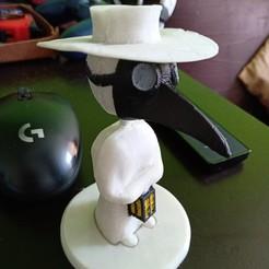 Descargar archivo STL El doctor de la peste Bobble Head • Plan para imprimir en 3D, mariomeraz
