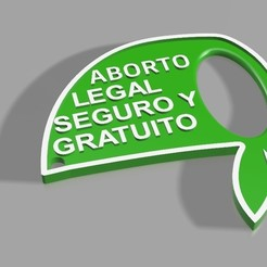 Download STL file LEGAL ABORTION KEYCHAIN, nicolasodde