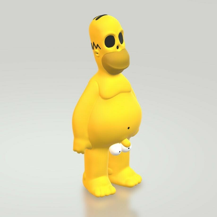 HomerCults3.jpg Download STL file Homer Naked The Simpsons  • 3D printing design, HTBROS