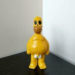 Homer Cuadrado.jpg Download STL file Homer Naked The Simpsons  • 3D printing design, HTBROS