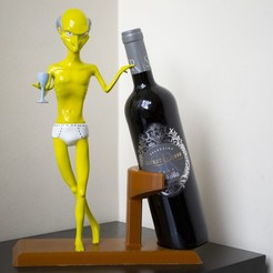 BURNS NAKED JPG.JPG Download STL file Mr. Burns Naked Wine Holder • Object to 3D print, HTBROS