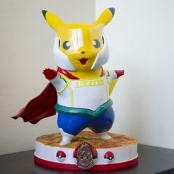 PIKAMILLION.JPG Download STL file Pikachu Lemillion • Template to 3D print, HTBROS