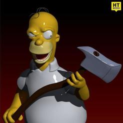 HOMER RENDER CULTS.jpg Download free STL file The Simpsons Homer The Shinning TreeHouse of Horror V • 3D printing model, HTBROS